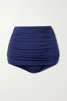 Thumbnail for your product : Norma Kamali Bill Ruched Bikini Briefs - Blue