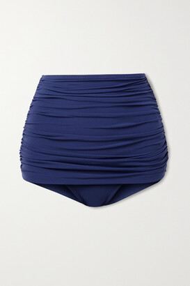 Norma Kamali Bill Ruched Bikini Briefs - Blue