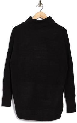 Modern Designer Cozy Mock Neck Dolman Pullover Sweater
