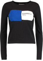 Alice + Olivia Connie Boucl&eacute-Paneled Wool-Blend Sweater