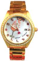 Betsey Johnson Women's -Tone 'Rose All Day' Watch