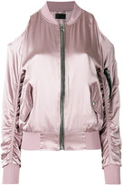 RtA zipped bomber jacket - women - Silk - S