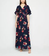 New Look Mela Floral Wrap Maxi Dress