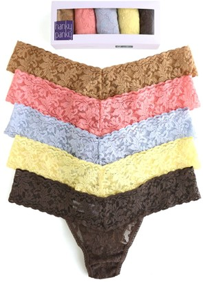 Hanky Panky 5 Low Rise Thongs in Classics