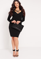 Missguided Plus Size Harness Midi Dress Black