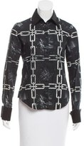 Viktor & Rolf Chain-Link Print Button-Up Top