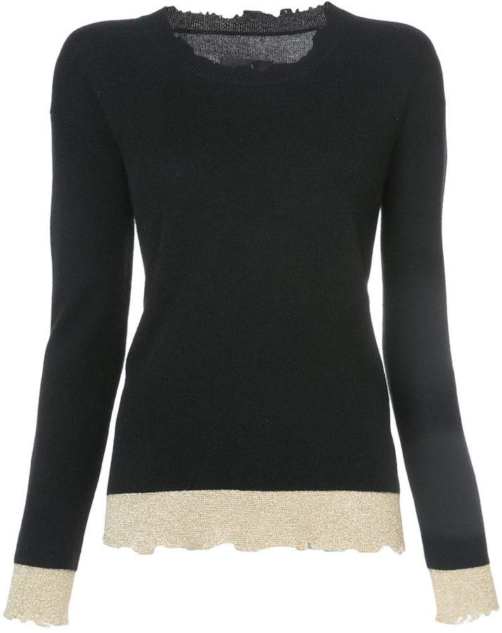 RtA raw edge knitted top