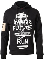 Raf Simons 'Abstract graffiti' cotton hoodie