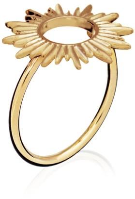 Rachel Jackson London Electric Goddess Sun Ring Gold