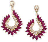 Effy Final Call Ruby (6-3/8 ct. t.w.) and Diamond (1/2 ct. t.w.) Drop Earrings in 14k Gold