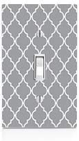 MWCustoms Gray & White Quatrefoil Pattern Art Light Switch Plate