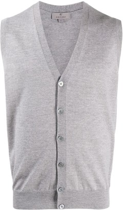 Canali sleeveless V-neck cardigan