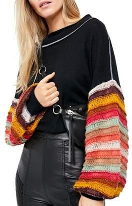 Free People Cha Cha Balloon-Sleeve Sweater