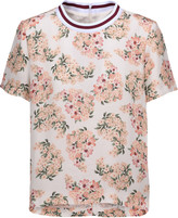 Mother of Pearl Paget floral-print silk crepe de chine top