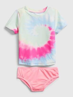 Gap Toddler Tie-Dye Rash Guard 2-Piece