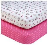 SANRIO Hello Kitty Cute as a Button Sheet Set (2pk)