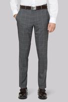 Moss Bros Skinny Fit Grey Check Pants