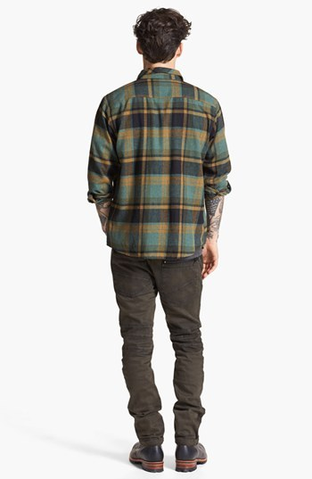 Brixton 'Bowery' Plaid Flannel Shirt
