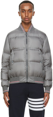Thom Browne Grey Down Relaxed Blouson Jacket