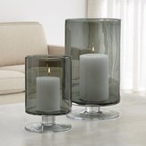 Crate & Barrel London Smoke Hurricane Candle Holders