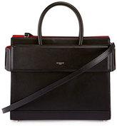 Givenchy Horizon Mini Leather Satchel Bag, Black