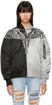 Marcelo Burlon County of Milan Black and Grey Alpha Industries Edition Talca MA-1 Jacket