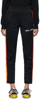 Palm Angels Black Rainbow Classic Track Pants