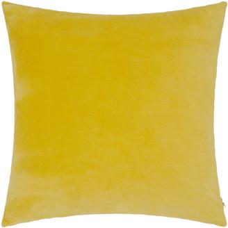 Niki Jones - Chartreuse Velvet Linen Cushion - 50x50cm