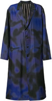 Yohji Yamamoto Back Print Coat - men - Silk - 3