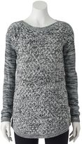 It's Our Time Juniors' Boatneck Tunic Sweater