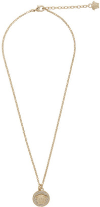 Versace Gold Small Medusa Coin Necklace