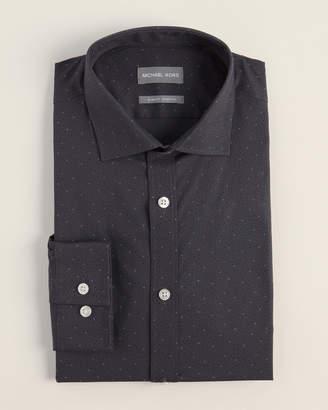 Michael Kors Slim Fit Stretch Polka Dot Dress Shirt