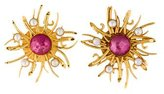 Dominique Aurientis Sun Burst Clip-On Earrings