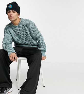 Collusion fisherman knit sweater in mist
