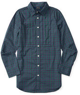 Ralph Lauren Plaid Pleated Cotton Tunic