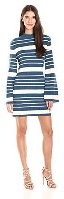 MinkPink Women's Stripe Linework Jumper Bell Sleeve Dress
