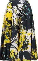 Marni sold out Printed cotton-poplin skirt