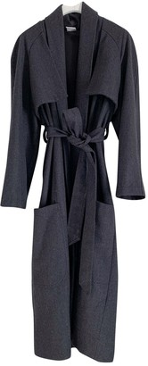 House Of Sunny Anthracite Wool Coat for Women
