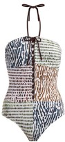 Marios Schwab On The Island By Double Boa Animal-print Swimsuit - Womens - Brown Multi