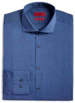 HUGO Micro Dot Textured Fancy Solid Regular Fit Dress Shirt