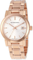 Burberry 34mm Rose Golden-Plated City Watch