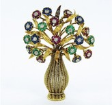 Tiffany & Co. Entremble Rubies Sapphires Emerald Diamond Pin Brooch