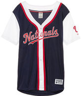 PINK Washington Nationals Mesh Button Down Jersey