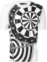 Love Moschino dartboard print T-shirt - men - Cotton - XS