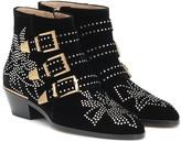 Chloé Susanna Short velvet ankle boots