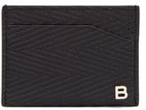 Balenciaga Chevron-striped cardholder