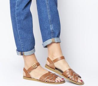 Salt Water Salt-Water Retro Sandals Tan Leather