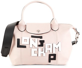 Longchamp Le Pliage Covertible Leather Top Handle Bag