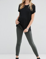 Asos Rivington Jeggings in Washed Khaki With Under The Bump Waistband