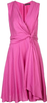Josie Natori Knot Tie Dress